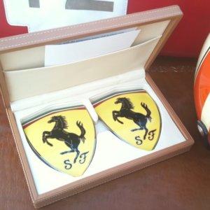 Scuderia Ferrari enamel wing emblems (large)
