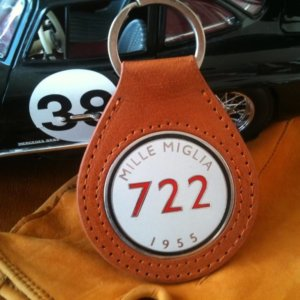 Mercedes Benz Mille Miglia keychain in leather