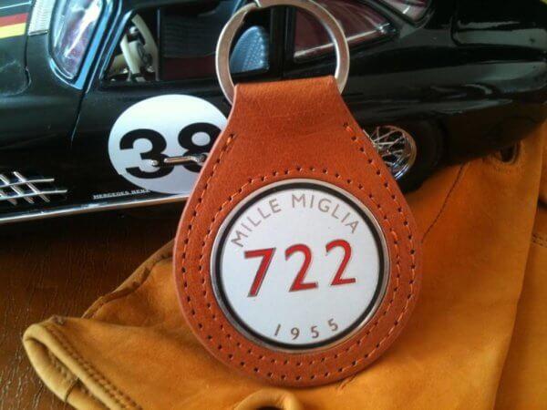 Mercedes Benz Mille Miglia keychain in leather