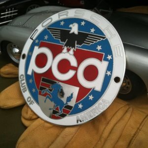 Porsche Club of America badge