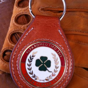 Alfa Romeo Targa Florio keychain in leather